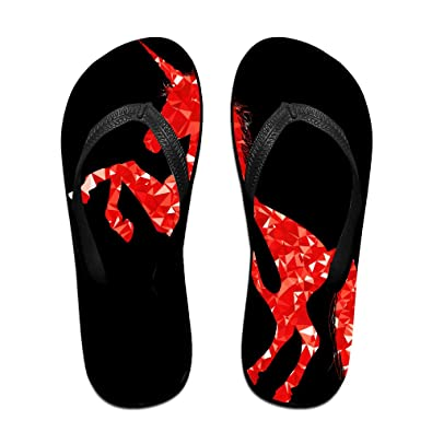 Unisex Non-slip Flip Flops Music Unicorn Cool Beach Slippers Sandal