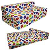 STANDARD SOFABED - double Sofa bed Single Chair Z bed Guest Childrens Futon (Multi Spotty)