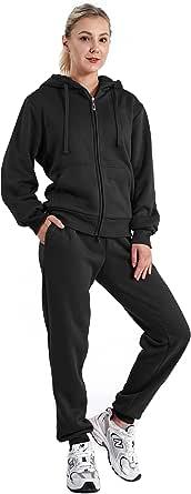 Sweatsuits for Women Tracksuit 2 Piece Outfits Velour & Fleece Active Wear Zip-Up Hoodie Sweatpants Sweat Suits