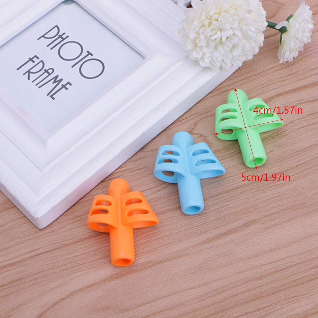 Su Qiao 3Pcs Child Pencil Holder Pen Writing Aid Grip Posture Correction Device Tool by Su Qiao (Image #3)