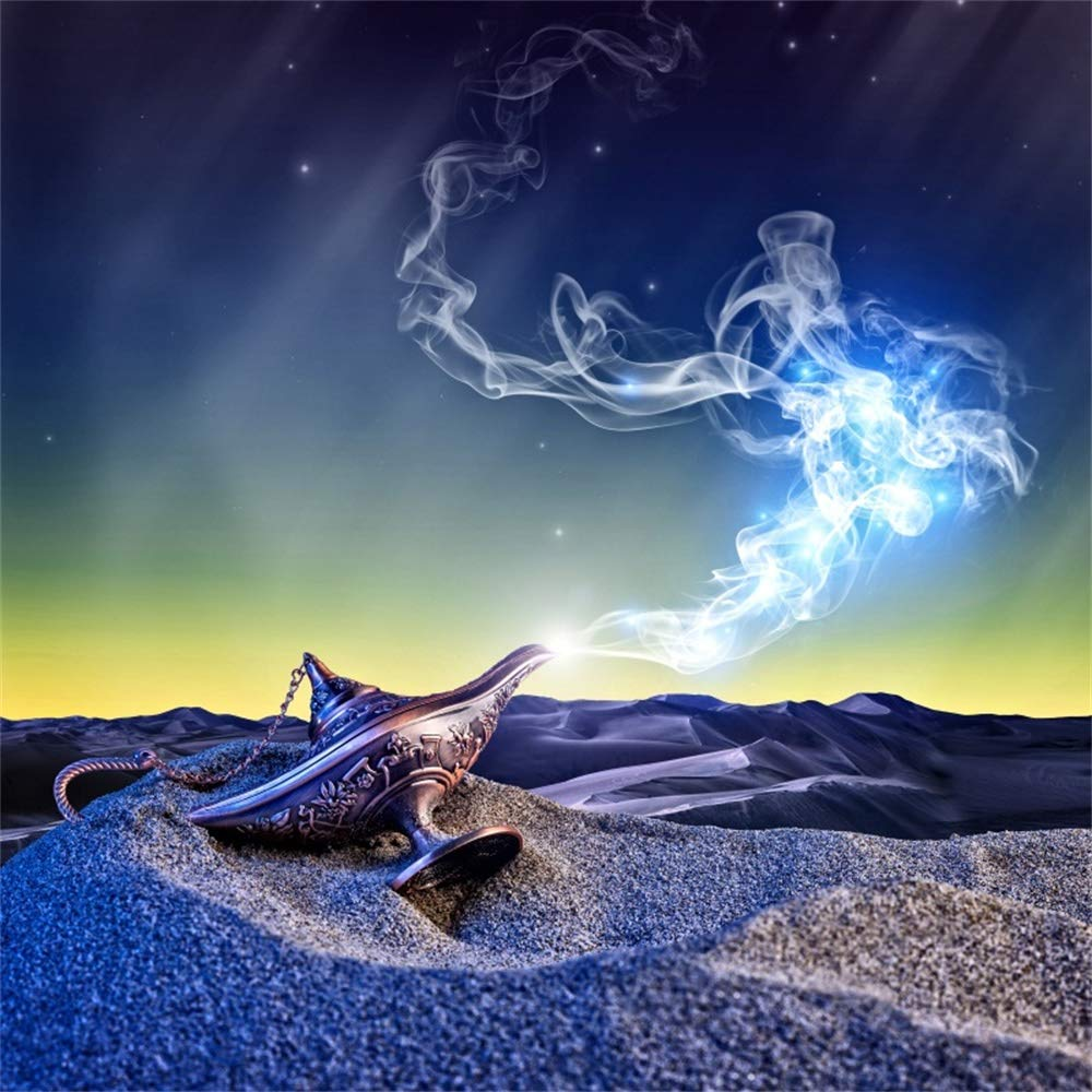 Yeele 5x5フィート オールドフェアリーテール 写真撮影用 神話マジック アラジン ボトル ランプ ジーニー背景 砂漠 スモーク キッズ ベビー 大人 写真ブース 撮影 ビニール スタジオ 小道具   B07L2TBJPZ