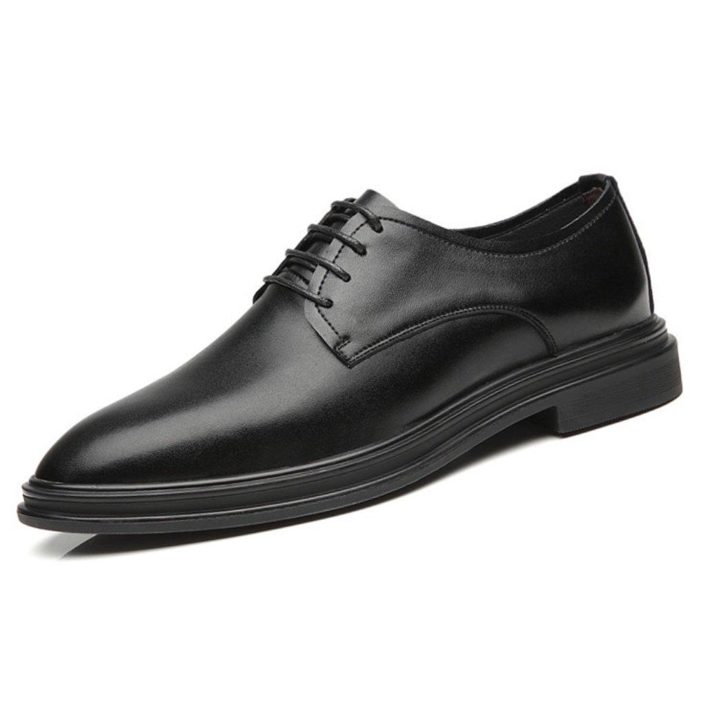 SHANGWU Herrenmode Business Casual Schuhe Herren Lederschuhe Hochzeit Schuhe