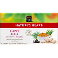 Nature's Heart 7502252484445 Te Happy Belly, Curcuma, jengibre, 30 gramos