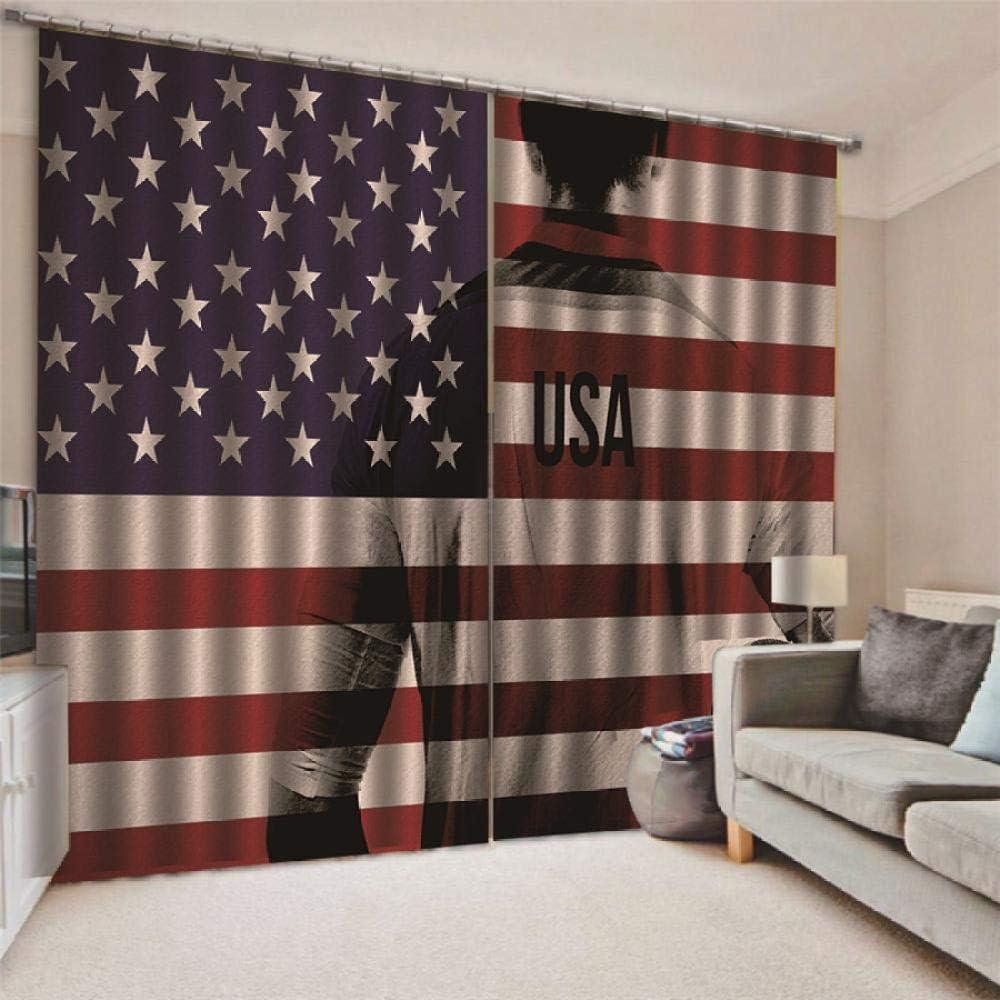 JRCURTAIN 3D Vorh/änge Flagge Usa 2Er Set Vorhang Blickdicht Polyester Mit Haken F/ür Schlafzimmer Kinderzimmer Wohnzimmer Dekoration,150x166cm