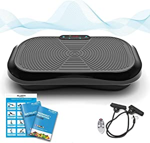 Bluefin Fitness Vibration Platform   Ultra Slim   Built-in Bluetooth Speakers   Silent Drive Motor   Ideal for Toning and Weight Loss Machine