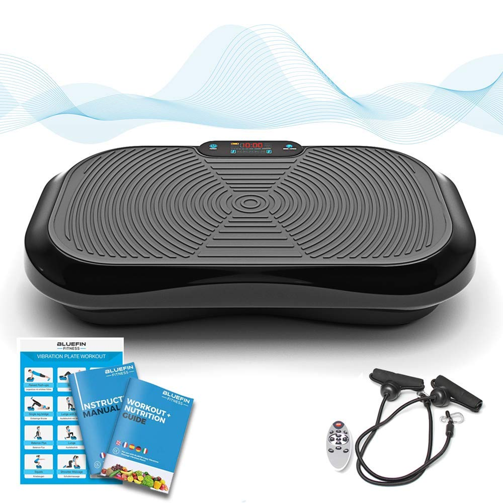 Bluefin Fitness Vibration Platform | Ultra Slim | Built-in Bluetooth Speakers | Silent Drive Motor | Ideal for Toning and Weight Loss Machine