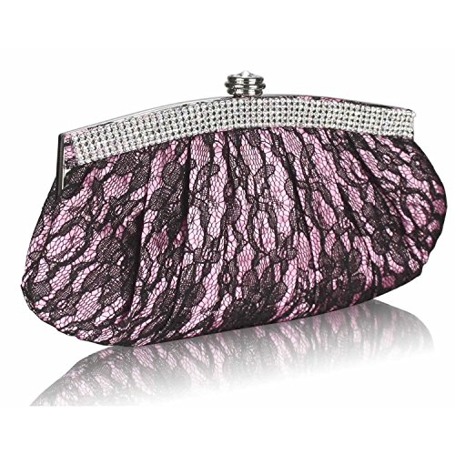 L And S Handbags - Cartera de mano para mujer Rosa