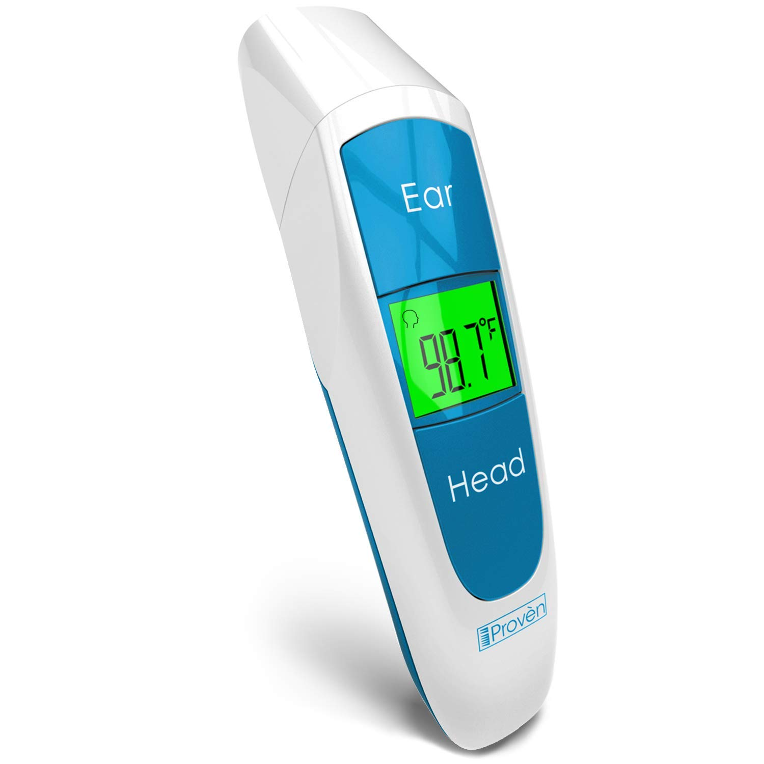 [New 2019 Model] iProven Baby Digital Thermometer Forehead and Ear - Quick Readings in 1 Second - with Fever Indicator and Backlight - DMT-316BLU by iProven