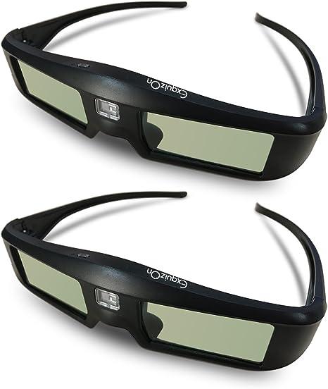 2 x Gafas 3D DLP-Link ExquizOn, 96-144Hz Gafas 3D Universal con ...