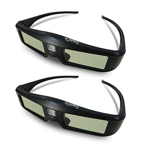 ExquizOn DLP Link 3D Active Shutter Glasses Compatible with 3D DLP  Projectors BenQ, Optoma, Dell, Mitsubishi, Samsung, Acer, Vivitek, NEC,  Sharp,