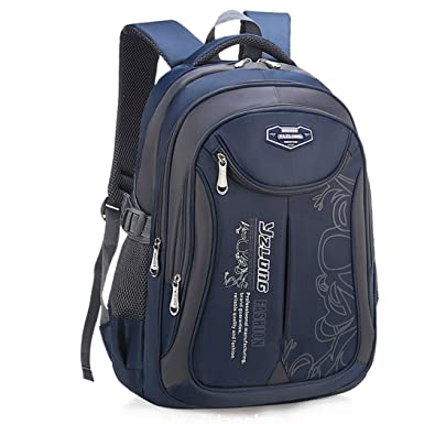 Amazon.com: Bageek School Backpack for Boys Bookbag on Sale 2018 New Back to School Kids School Bag Large Outdoor Daypack (Navy Blue): Bageek Direct