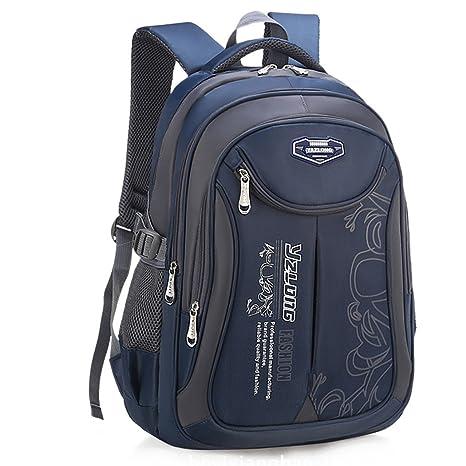 Amazon.com: Bageek School Backpack for Boys Bookbag on Sale 2018 New Back to School Kids School Bag Large Outdoor Daypack (Navy Blue): Bageek Direct