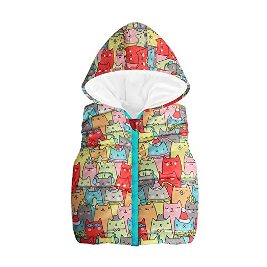 db17aa0dc Amazon.com  Hooded Waistcoat for Toddler Baby Girl Boy Clothes ...
