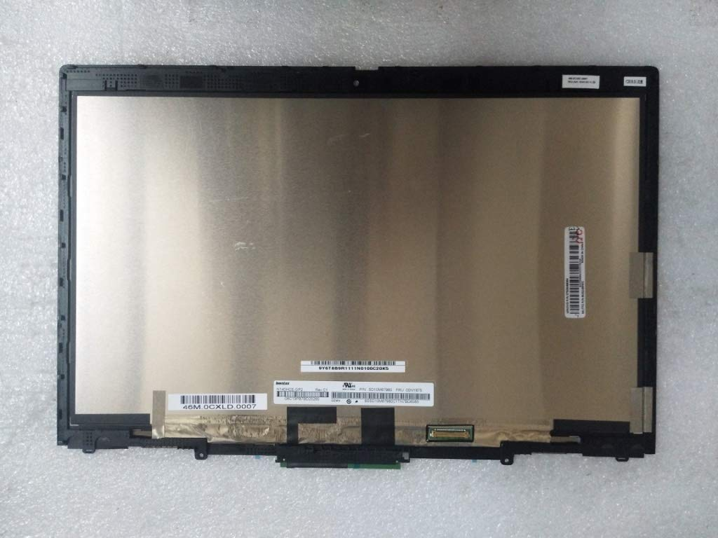 New Replacement 14'' FHD (1920x1080) LCD Screen IPS LED Display + Touch Digitizer + Touch Control Board + Bezel Frame Assembly Fit Lenovo Thinkpad FRU: 01AY922