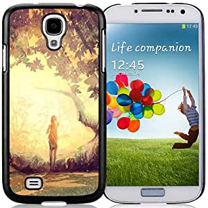 Popular And Durable Designed Case For Samsung Galaxy S4 I9500 i337 M919 i545 r970 l720 With Lonely Girl In Forest Phone Case
