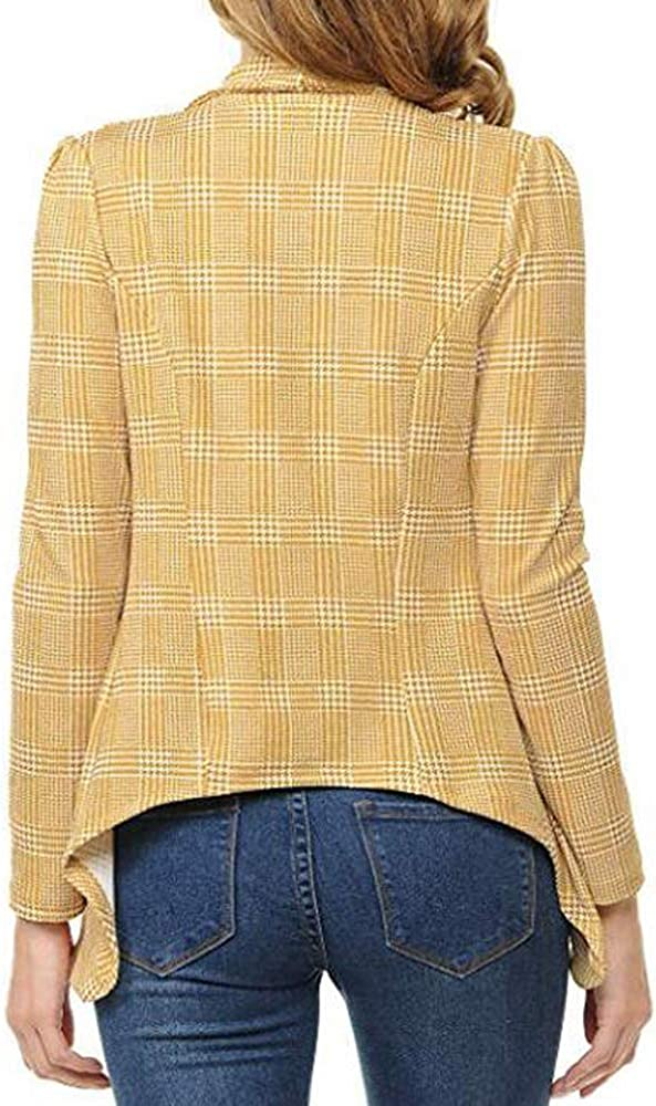SIMPLEWORD Womens Casual Blazers Work Office Open Front Long Sleeve Cardigan