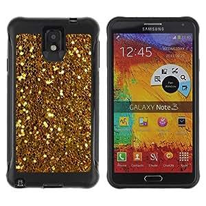 "Hypernova Defender Series TPU protection Cas Case Coque pour SAMSUNG Galaxy Note 3 III / N9000 / N9005 [Brillantes Glitter Treasure Amarillo Monedas""]"