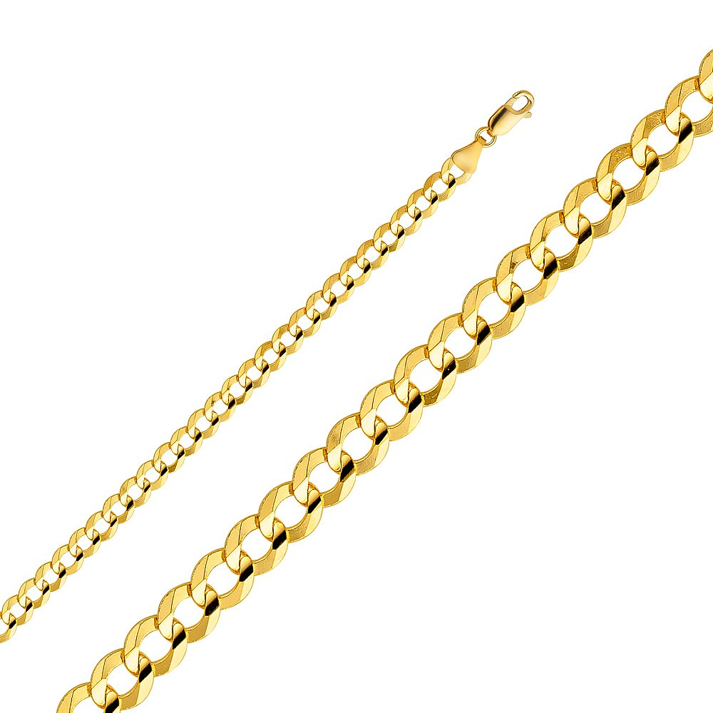 Wellingsale 14k Yellow Gold SOLID 5.7mm Polished