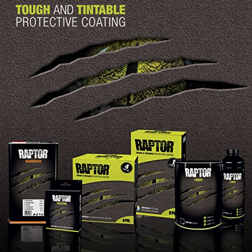 U-POL Raptor Tintable Urethane Spray-On Truck Bed Liner Kit w/ FREE Spray Gun, 8 Liters by U-Pol (Image #8)
