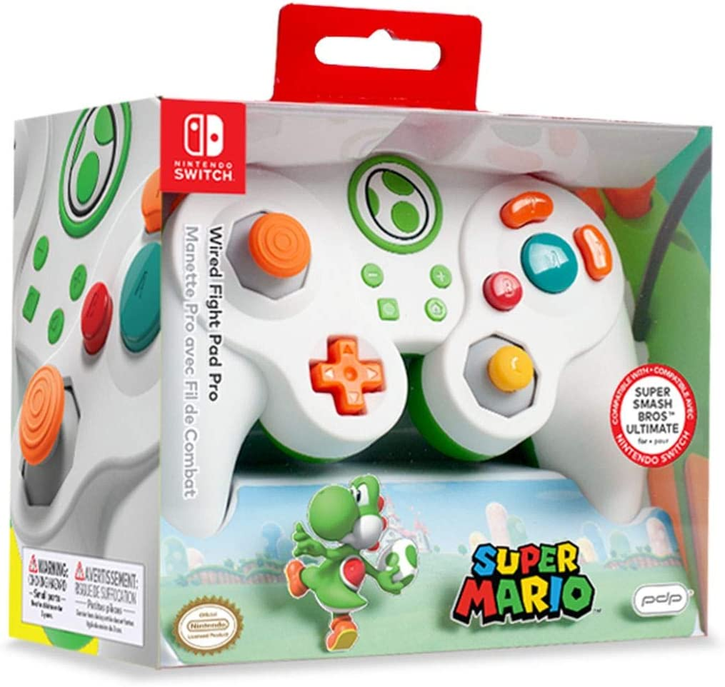 PDP - Mando Pro Fight Pad Con Cable Yoshi (Nintendo Switch): Amazon.es: Videojuegos