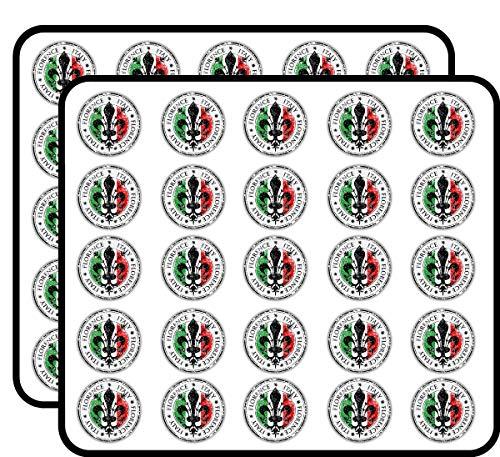 Florence City Italy Flag Grunge Travel Sticker for Scrapbooking, Calendars, Arts, Kids DIY Crafts, Album, Bullet Journals 50 Pack]()