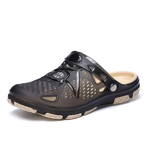 3b201d51002494 AOJIAN Shoes Women s Sandals Beach Hole Flip Flop Slide Slipper Clog Mule  Black