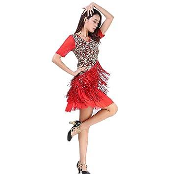 Xueyanwei Mujeres Clásicas Danza Latina Falda Tango Falda Auto ...
