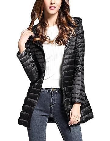 0930335ed3 Doudoune à Capuche Femme Ultra Légère Longues Manteau Chaud Blouson  Compressible Veste Duvet