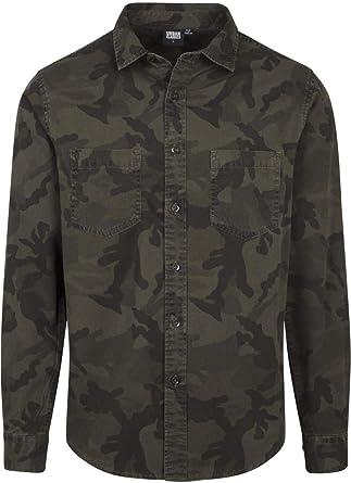 Urban Classics Camo Shirt Camisa Vaquera para Hombre: Amazon.es: Ropa y accesorios