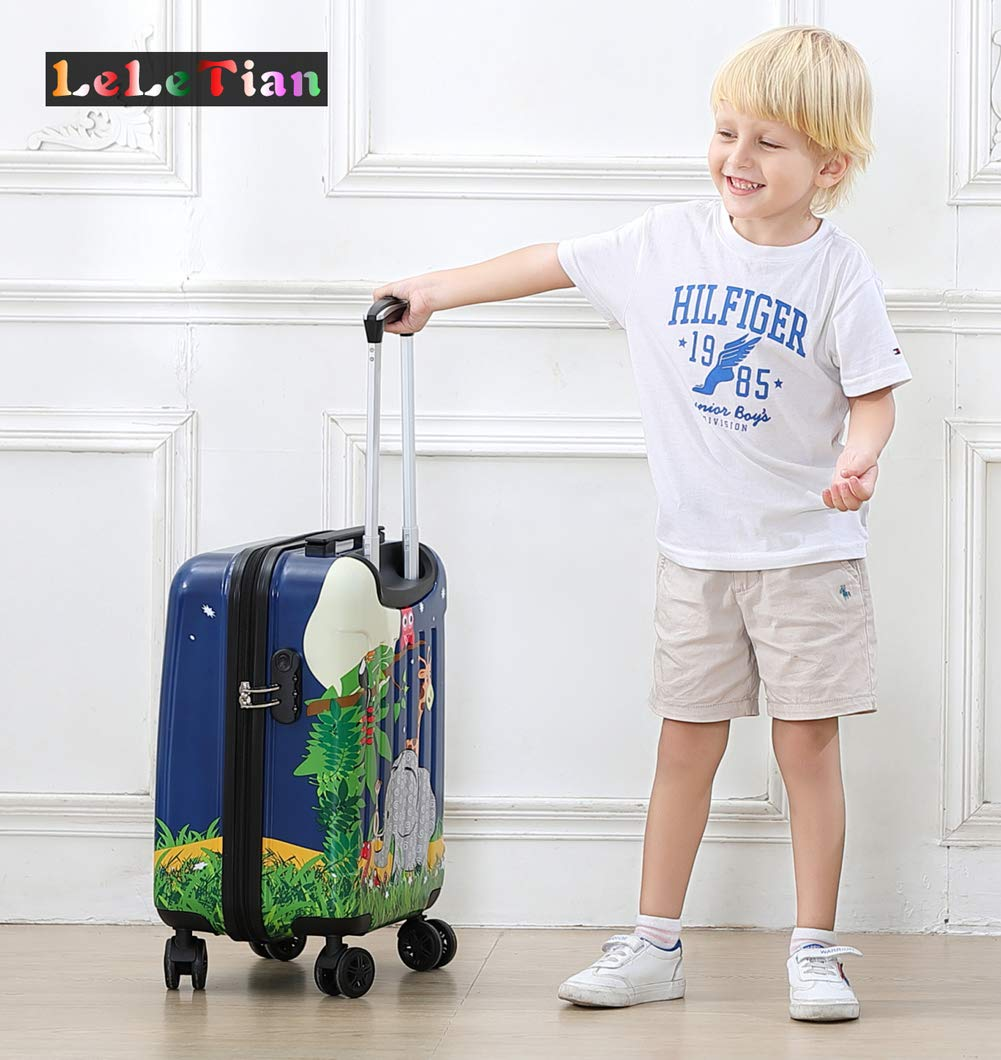 Boys Luggage Anti-scratch Suitcase 19in Hardshell Spinner Carry on PC+ABS Elephant LeLeTian by LeLeTian (Image #10)