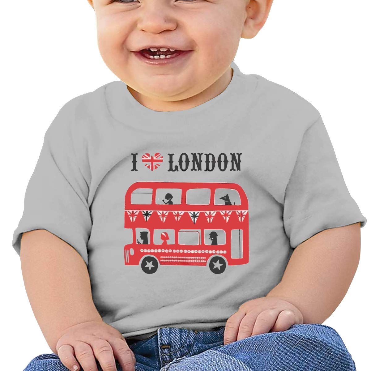 I Love London Baby T-Shirt Toddler//Infant Cotton T Shirts Fashion Graphic T-Shirt for 6M-2T Baby