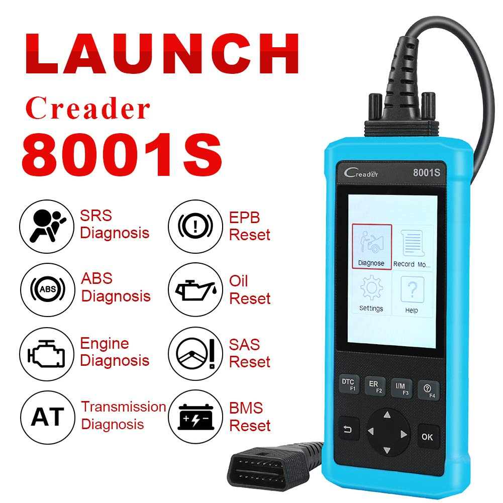 LAUNCH CR8001S Auto Scan Tool Code Reader Diagnostic OBD2 Scanner with ABS, SRS, Engine and Transmission Diagnoses and Oil Light Reset, EPB, SAS, BMS Reset by LAUNCH (Image #2)