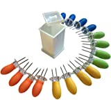 Butter Your Corn Set with Jumbo Corn Cob Holders (For 8) and Norpro Butter Spreader