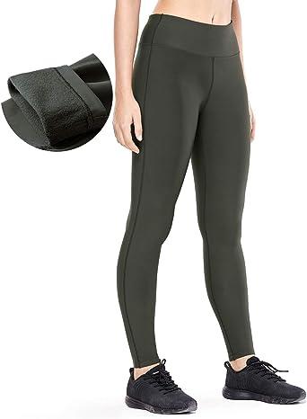 Image of CRZ YOGA Mujer Calidez de Invierno Deportivos Alta Cintura Yoga Pantalones Fitness Mallas Gruesos-93cm
