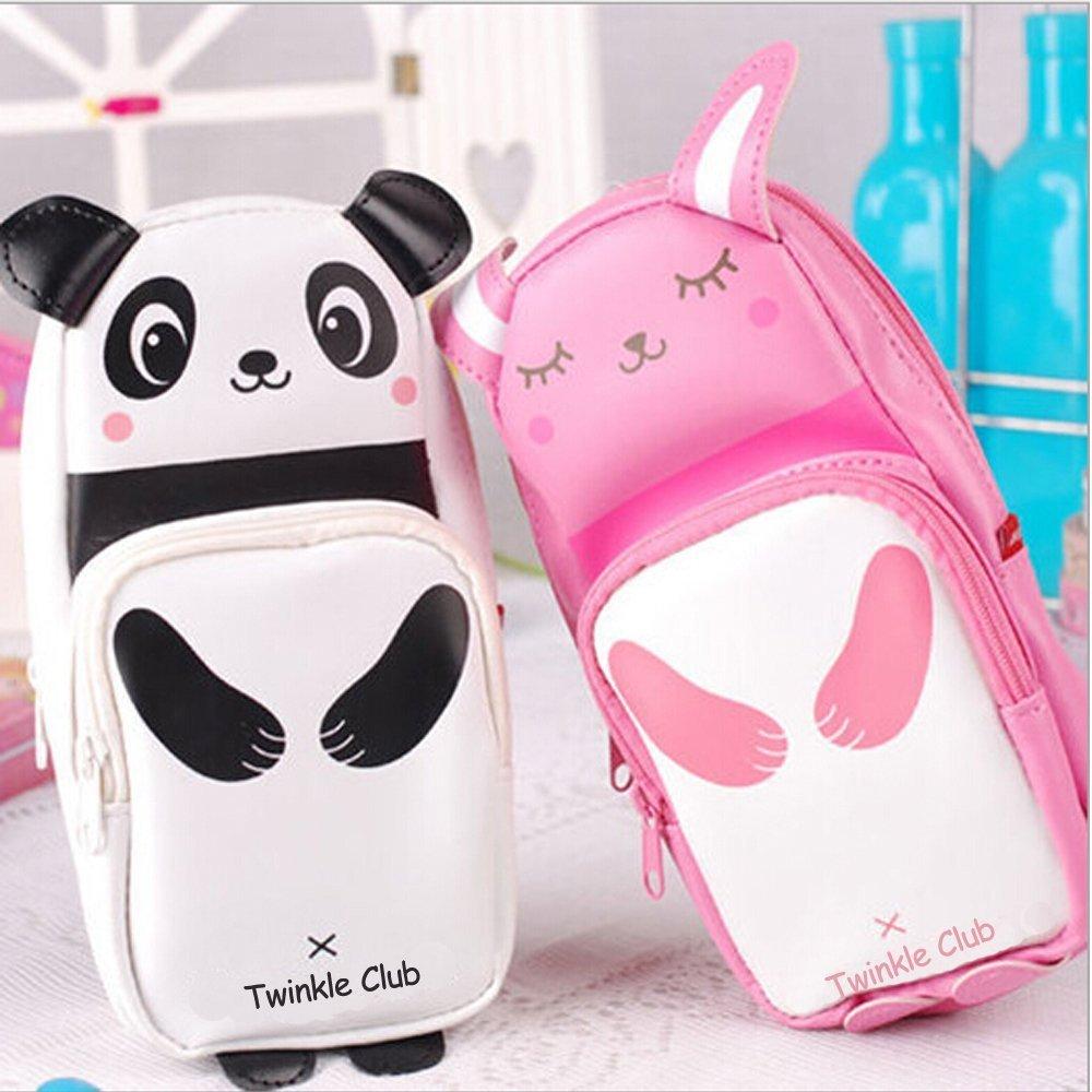 Amazon.com : Panda Pencil Case Rabbit Pencilcase Leather ...