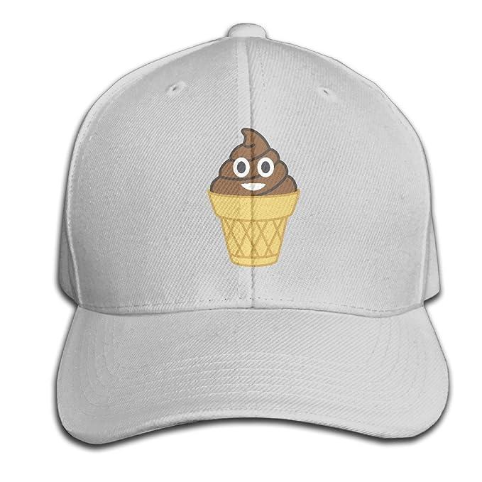 Csysmz Poop Emoji Ice Cream Baseball Cap Unisex Fishing Caps Peaked