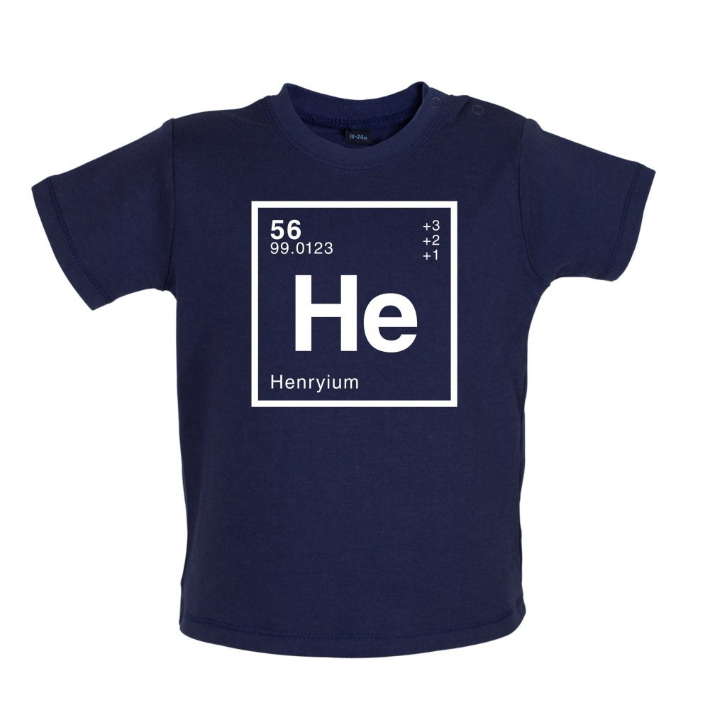 Dressdown HENRY Periodic Element Baby T-Shirt Ages 3-24 Months 8 Colours