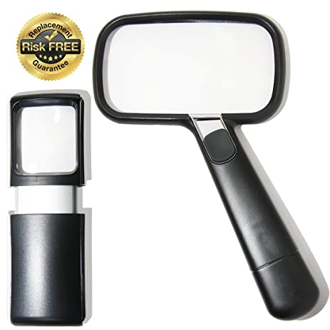 amazon com elderly macular degeneration magnifier with led light