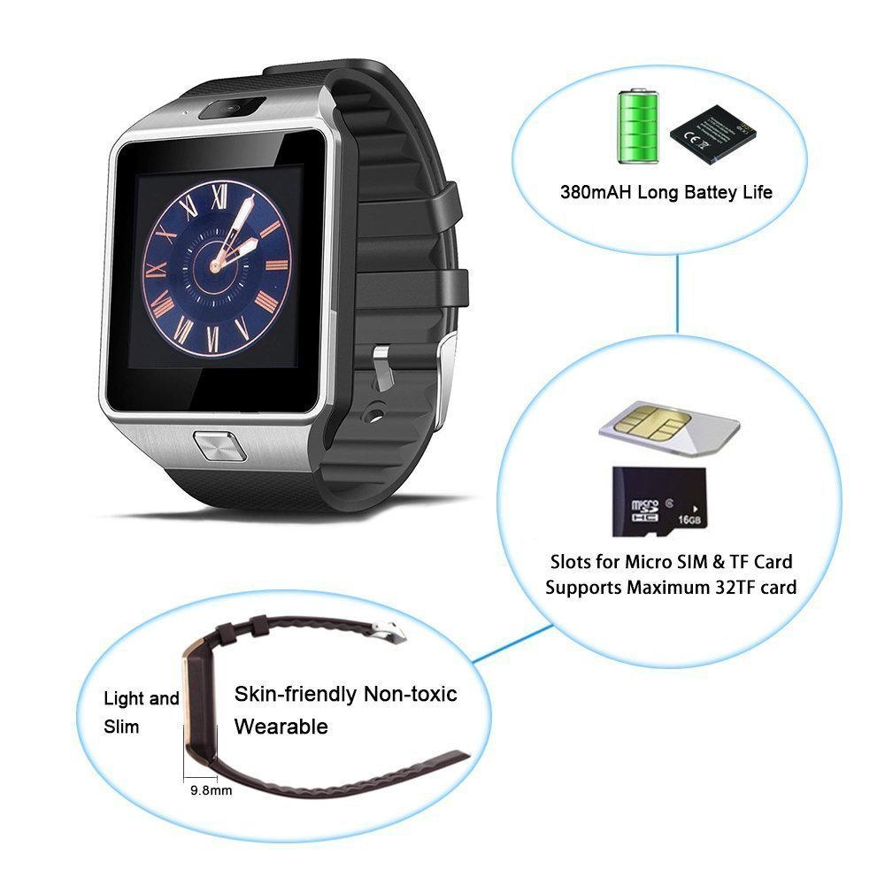 Smartwatch Android , Bluetooth inalámbrico inteligente reloj GSM ...