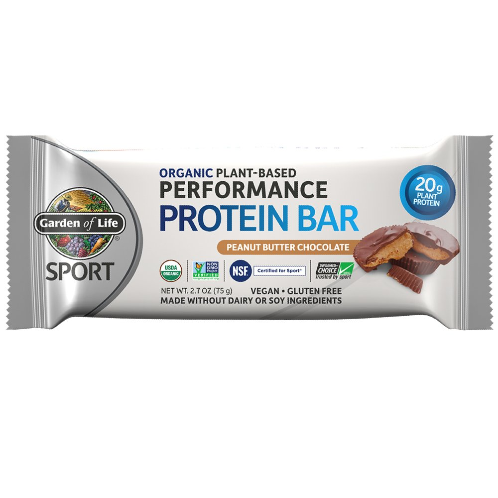 Garden of Life Organic Sport Protein Bar, Vegan, Peanut Butter Chocolate,12 Count by Garden of Life (Image #2)