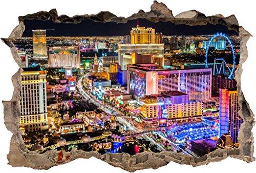 Las Vegas Strip City Landscape Smashed Wall Sticker Decal Home Art Mural J340, - Las On Strip Vegas Stores