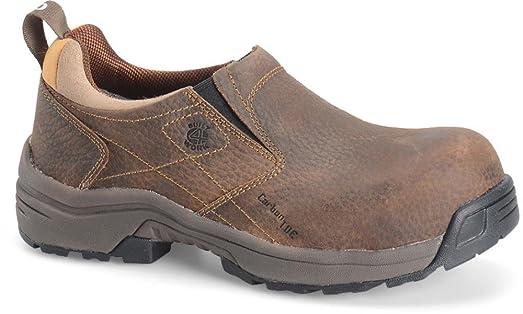 Carolina Boots: Women's Composite Toe Brown Slip-On Work Shoes LT251-6M