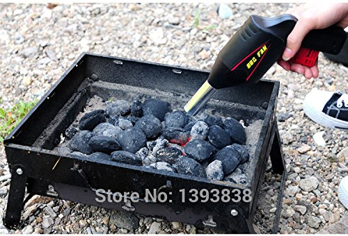 Manually BBQ Fan Air Blower for Barbecue Tools Pressing Fire Bellows BBQ Fan Portable Gun Camping