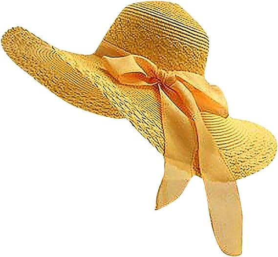 Sombrero Playa Mujer Proteccion, fiosoji Viseras Mujeres ala Ancha ...