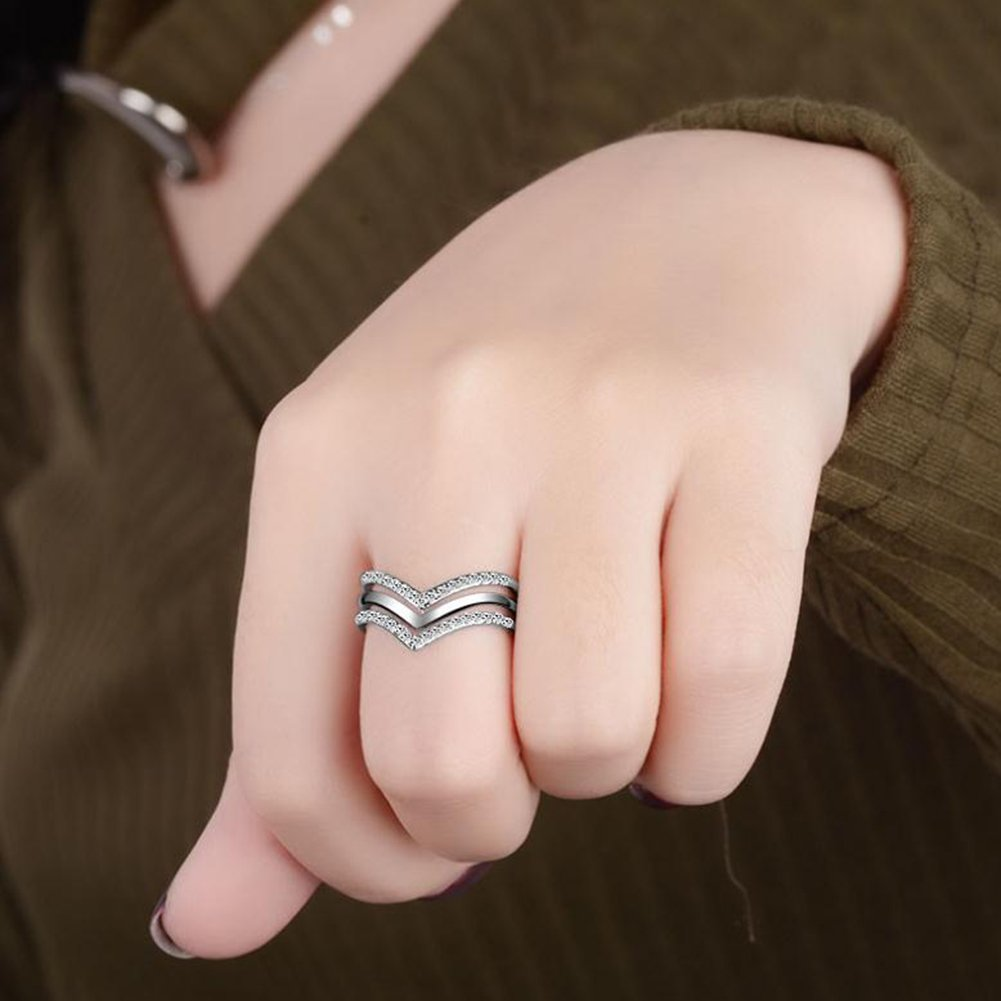 Hosaire 1 Pcs Adjustable Rings Alloy Multilayer Simple designed ...