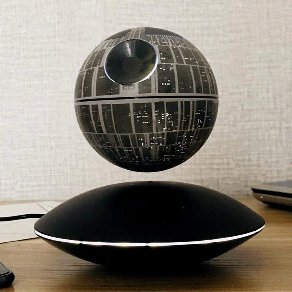 fanhangxuan Bluetooth Speaker Star Magnetic Levitation Sound Star Wars Bluetooth Speaker Star II Bluetooth, Death Star Magnetic Levitation Speaker