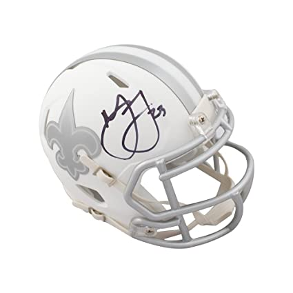 Image Unavailable. Image not available for. Color  Marshon Lattimore  Autographed New Orleans Saints Ice Mini Football ... 26073c352