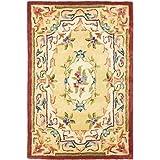 Safavieh Empire Collection EM822A Handmade Traditional European Gold Premium Wool Area Rug (2′ x 3′)