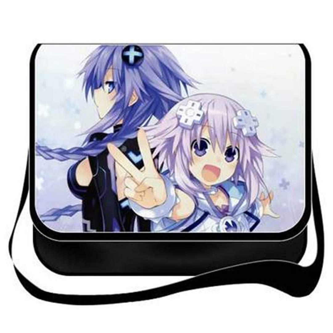 GO2COSY Anime Hyperdimension Neptunia Messenger Bag Crossbody Handbag Backpack Tote Bag Student Bag Shoulder Bag