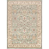 Mozart Sage and Khaki Traditional Area Rug 7'9″ x 11'2″ For Sale
